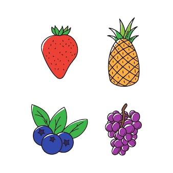 Handgezeichnete früchte