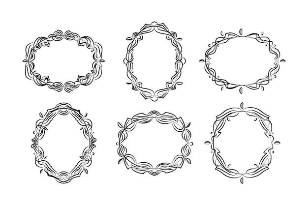 Handgezeichnete gekritzelrahmen-sammlung