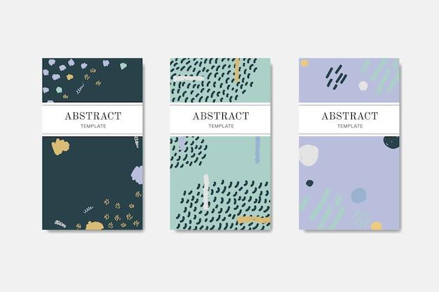 Handgezeichnete gemusterte visitenkarten