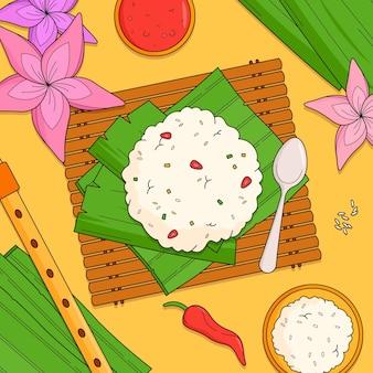 Handgezeichnete gopalkala-illustration