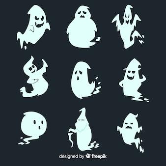 Handgezeichnete halloween ghost collection