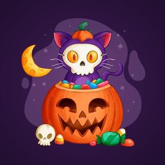 Handgezeichnete halloween-illustration