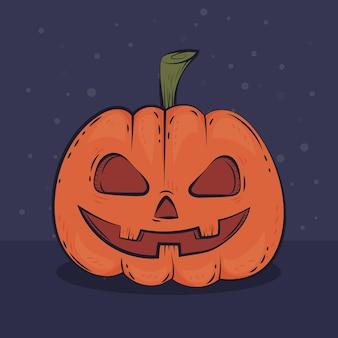 Handgezeichnete halloween-kürbis-illustration
