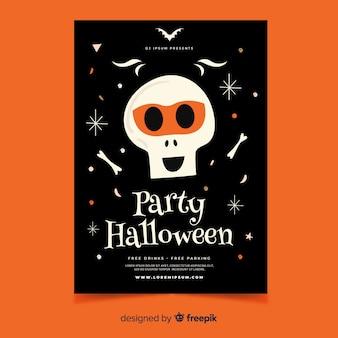 Handgezeichnete halloween party plakat vorlage