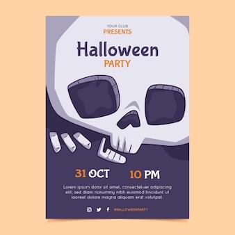 Handgezeichnete halloween-party-vertikal-flyer-vorlage