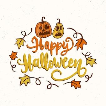 Handgezeichnete halloween-schriftzug