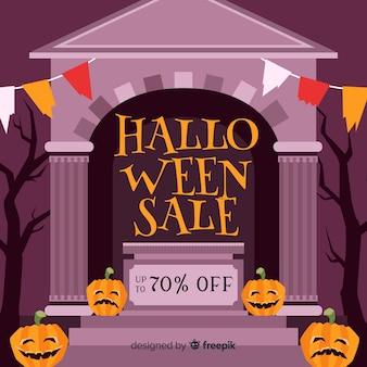 Handgezeichnete halloween-verkauf