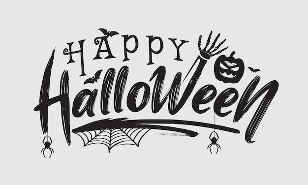 Handgezeichnete happy halloween-schriftzug