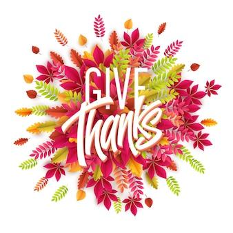 Handgezeichnete happy thanksgiving day karte