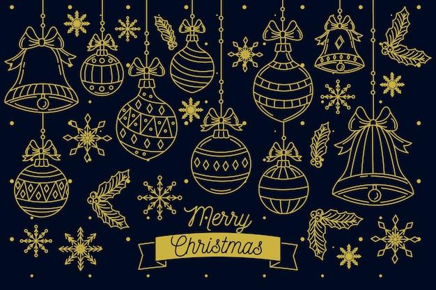 Handgezeichnete hintergrund weihnachten