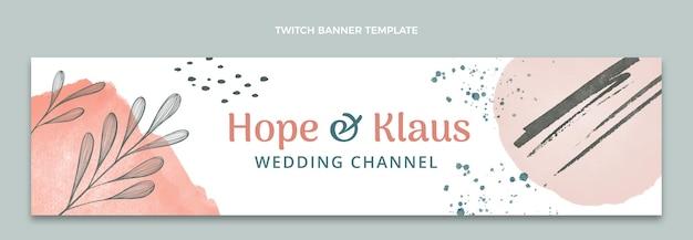 Handgezeichnete hochzeitstwitch-banner