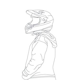 Handgezeichnete illustration von reitern