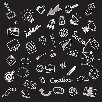 Handgezeichnete illustrationen sammlung