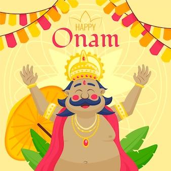 Handgezeichnete indische onam-illustration