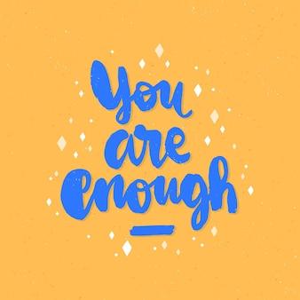 Handgezeichnete inspirierende schrift für die psychische gesundheit