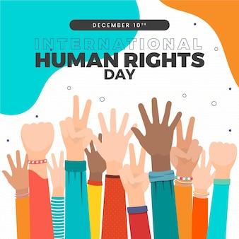Handgezeichnete internationale illustration zum tag der menschenrechte