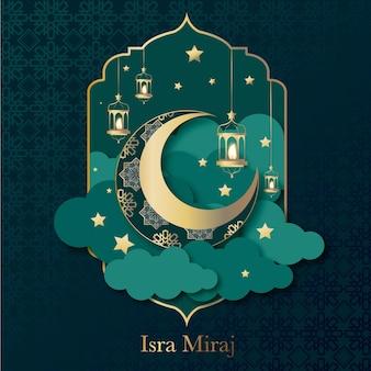 Handgezeichnete isra miraj illustration