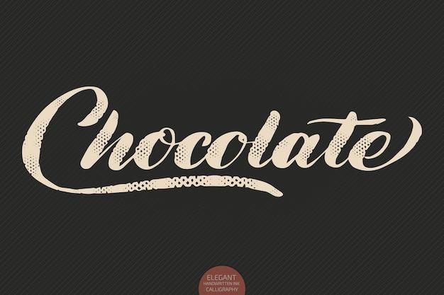 Handgezeichnete kalligraphie schokolade