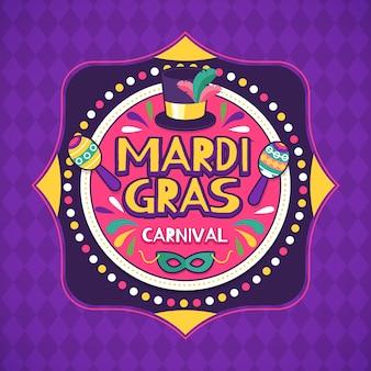 Handgezeichnete karneval mit musikinstrumenten und pfeil