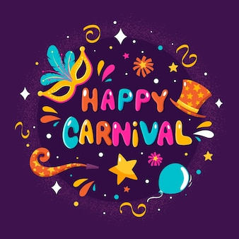 Handgezeichnete karneval
