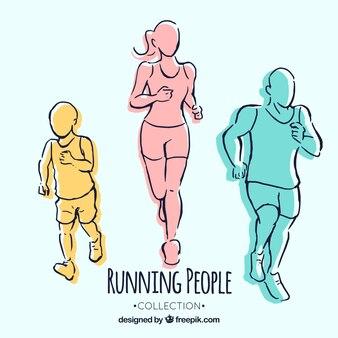 Handgezeichnete läufer
