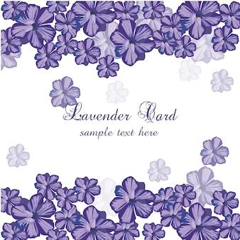 Handgezeichnete lavendelkarte
