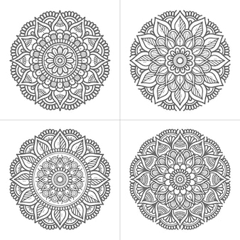 Handgezeichnete mandala-sammlung