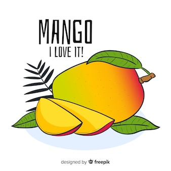 Handgezeichnete mango-illustration
