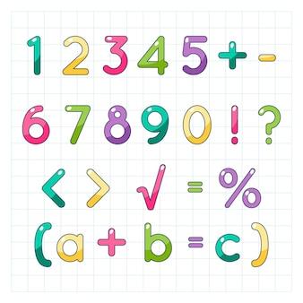 Handgezeichnete mathematische symbole