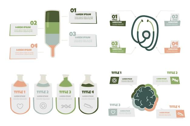 Handgezeichnete medizinische infografiken