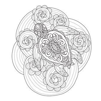 Handgezeichnete meeresschildkröte