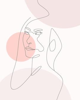 Handgezeichnete minimale frau eine linie stil zeichnung strichzeichnungen