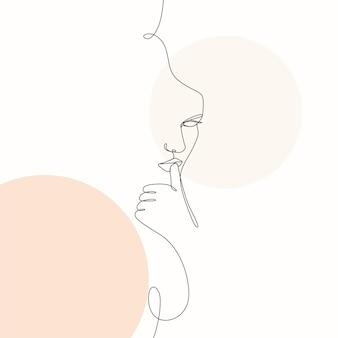 Handgezeichnete minimale frau eine linienart zeichnungslinie artb