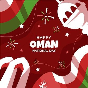 Handgezeichnete nationalfeiertag der oman-illustration