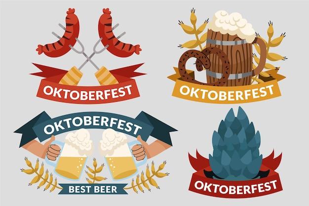 Handgezeichnete oktoberfest-etikettensammlung