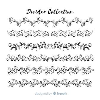 Handgezeichnete ornament teilersammlung