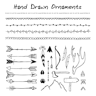 Handgezeichnete ornamente