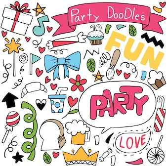 Handgezeichnete party gekritzel