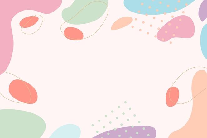 handgezeichnete pastellfarbene tapeten
