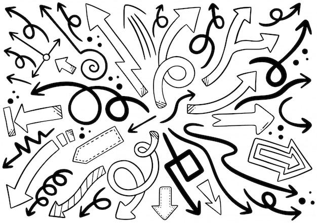 Handgezeichnete pfeile
