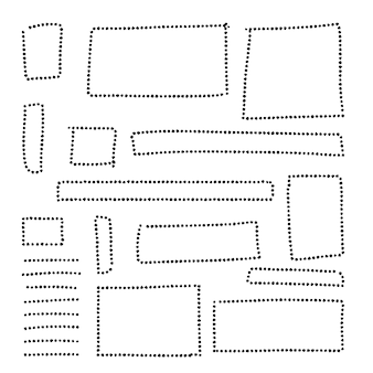 Handgezeichnete punktrahmensammlung