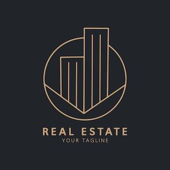 Handgezeichnete real estate logo
