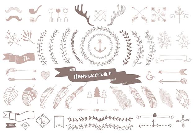 Handgezeichnete reise-design