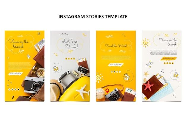 Handgezeichnete reise-instagram-geschichten
