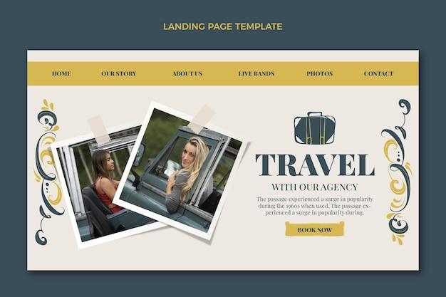 Handgezeichnete reise-landingpage