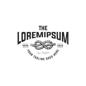 Handgezeichnete rope logo
