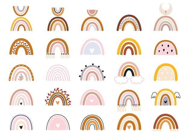 Handgezeichnete sammlung für kinderzimmerdekorationsillustration