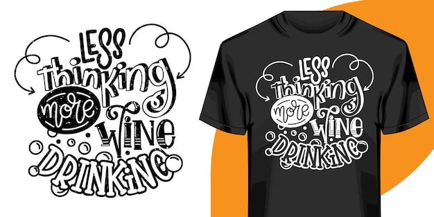 Handgezeichnete schriftzug t-shirt design