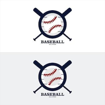 Handgezeichnete skizze von baseball oder softballball
