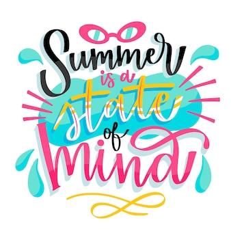 Handgezeichnete sommerbeschriftung